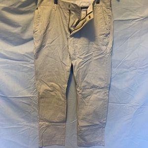 Men's slim fit white dress chino size W30 L30